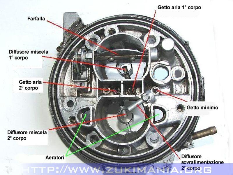 carburatore weber 32-34 corpo principale