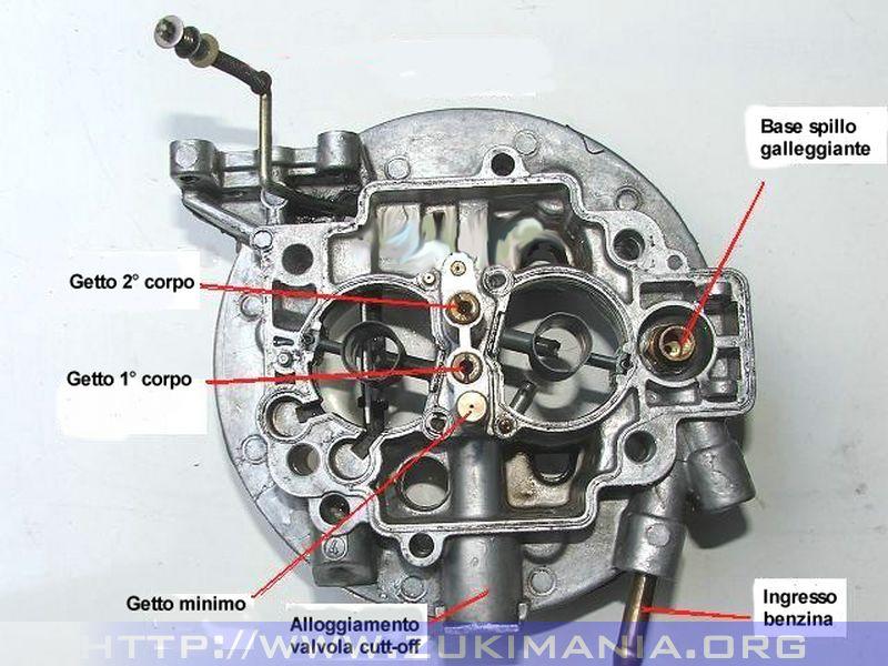 carburatore weber 32-34 corpo interno