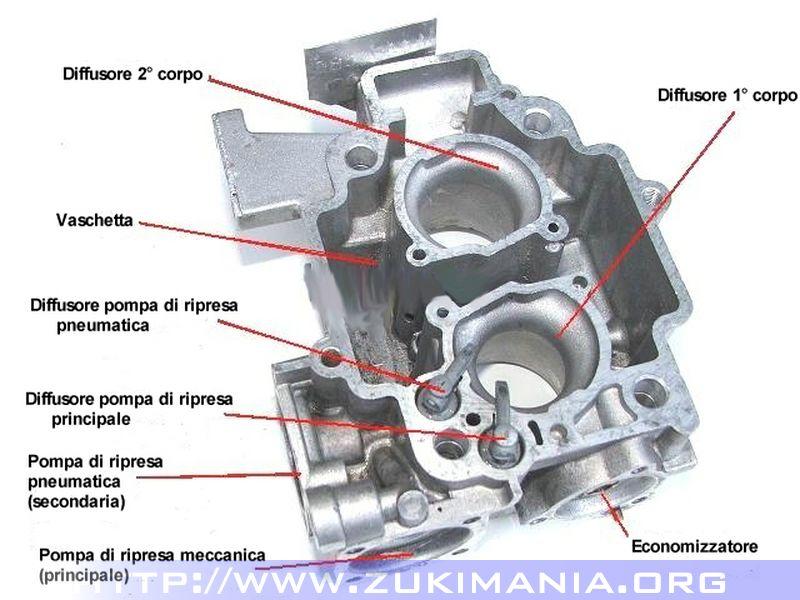 carburatore weber 32-34 scheletro