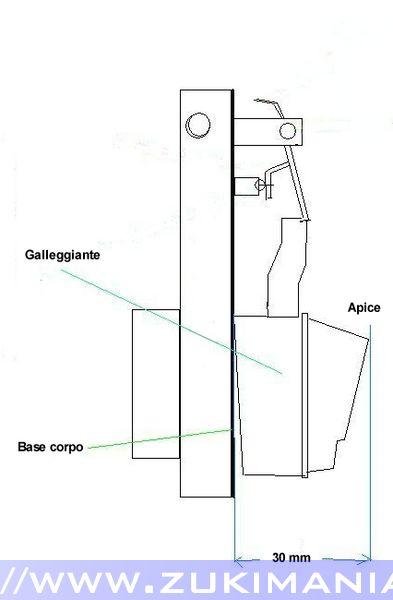 carburatore weber 32-34 schema regolazione galleggiante